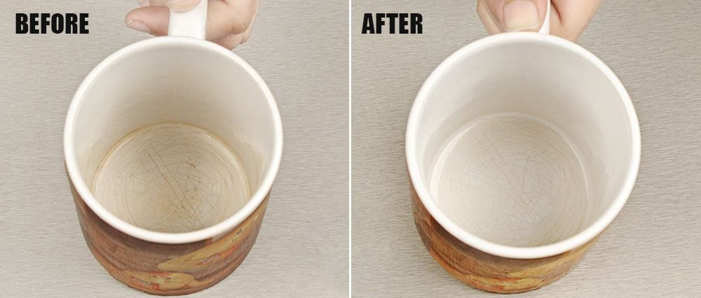 TIP OF THE DAY! —— Do your cups have stains from tea or