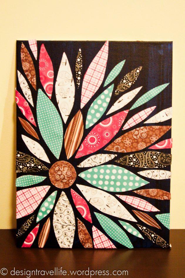 YW burst of colors Scrapbook paper canvas, Diy scrapbook