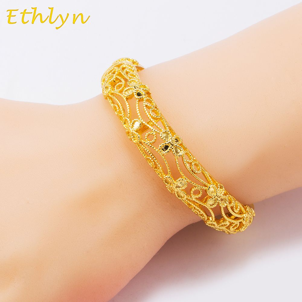 vintage gold color factory bracelet wedding ouro price women in rose a woman from item jewelry bridal bangles plated joias for party bracelets