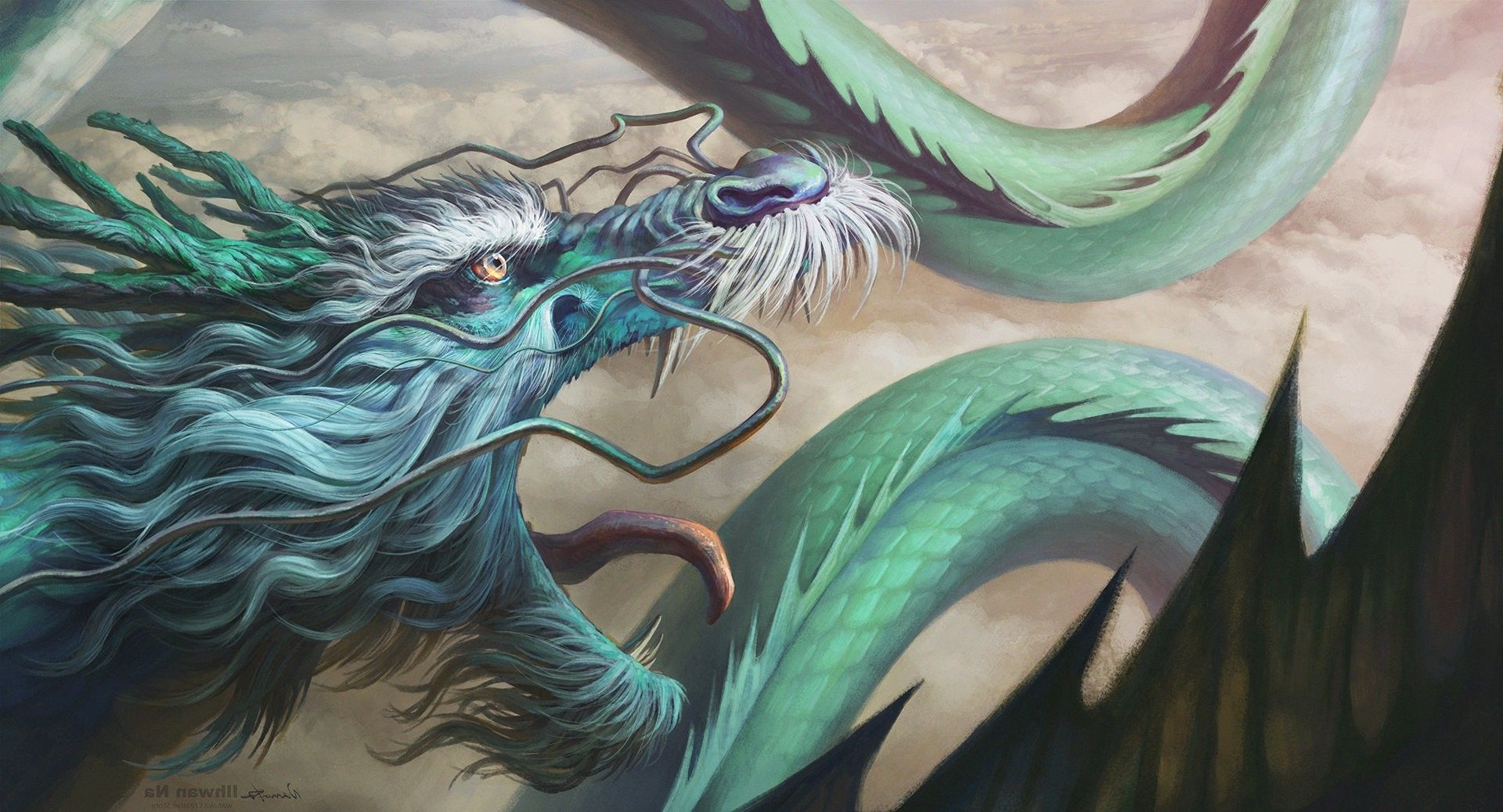 Artwork Fantasy Art Dragon Chinese Dragon Wallpaper In
