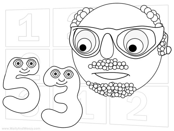 Numberjacks Drawing Coloring Video And Downloadable Coloring Page
