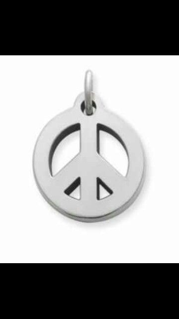 I love love love this james avery peace sign charm!