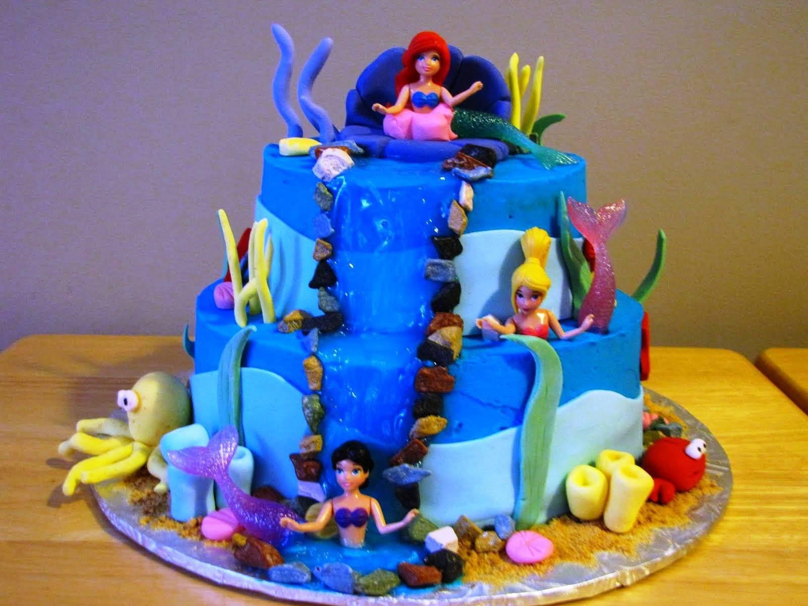 walmart little mermaid cake