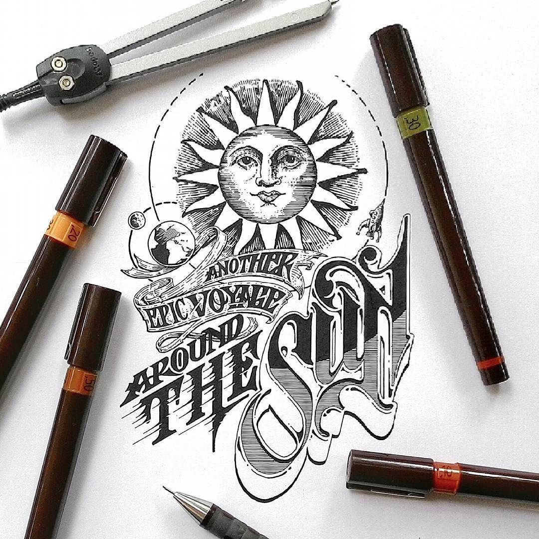 Another Epic Voyage Around The Sun  cant wait!! #happynewyear #newyear #newyear2016 #2016 #rotring  #typography #lettering #calligraphy #artwork #illustration #drawing #handlettering #PerancangAksara #localArtist #indonesianArtist  #handmadefont #calligritype #goodtype #thedailytype #typographyinspired #letteringco @lettering_co #typespire #todays_type #typegang #typematters #thedesigntip #TYxCA by krishnakastubi