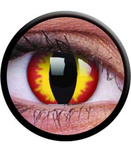 0ecc649fa4 Φακοί επαφής κίτρινοι Dragon Eyes για αποκριάτικες εμφανίσεις ...