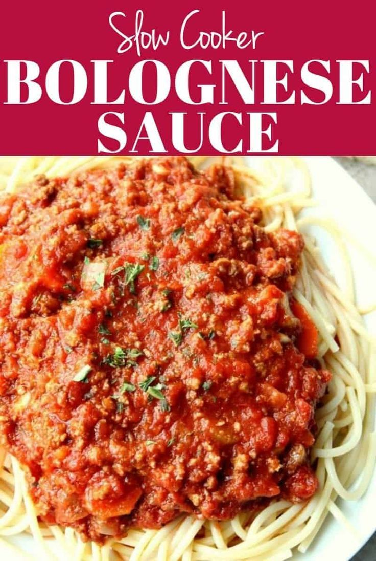 This Slow Cooker Bolognese Sauce is the best classic meat sauce ever! This rich and deep in flavor p