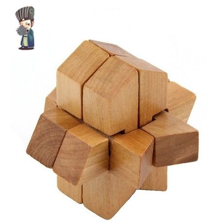 Novelty Funny Rockets Lock Ming Lock Luban Lock 3D Puzzles For Adult Children's Educational Toys Wooden Boutique LH400 $32.99