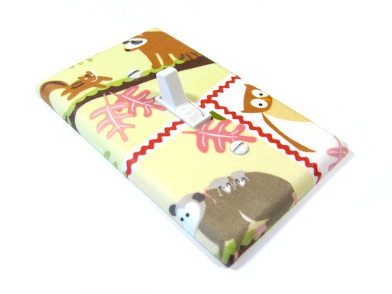 Woodland Nursery Decor Light Switch Cover Squirrel by ModernSwitch, $10.00