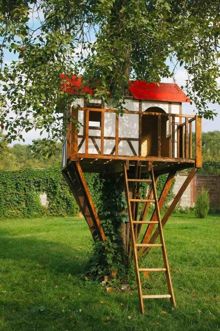 schönes häuschen als spielplatz für die kinder herrichten, Gartengerate ideen