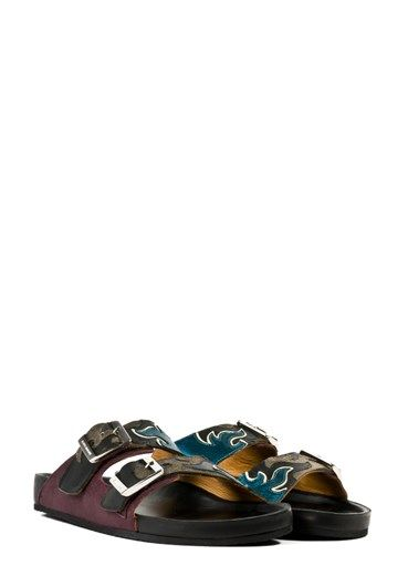 05b2efe579 isabel marant Double Strap Slip-on Sandals Multi | Lusting | Sandals ...