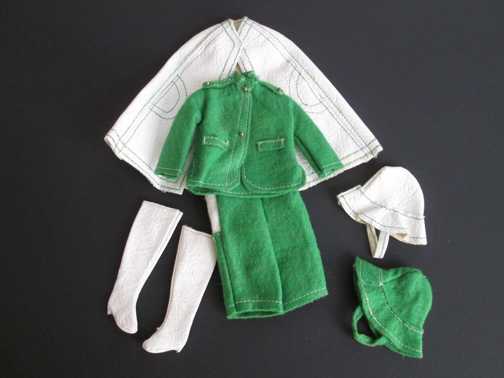 $20  http://www.rubylane.com/item/676693-D11/Barbie-Doll-Rainy-Day-Outfit