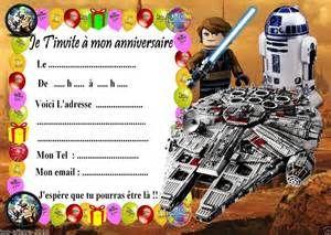Cartes Invitation Anniversaire Lego Star Wars 03 D Autres En Vente