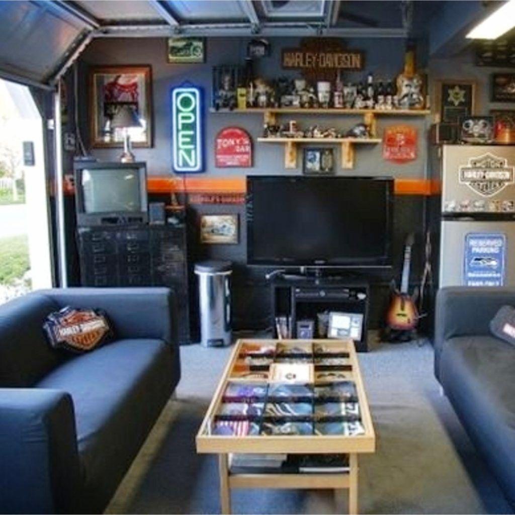 Man Cave Ideas Garage Man Cave Ideas On A Budget Clever Diy Ideas Man Cave Garage Garage Game Rooms Garage Makeover