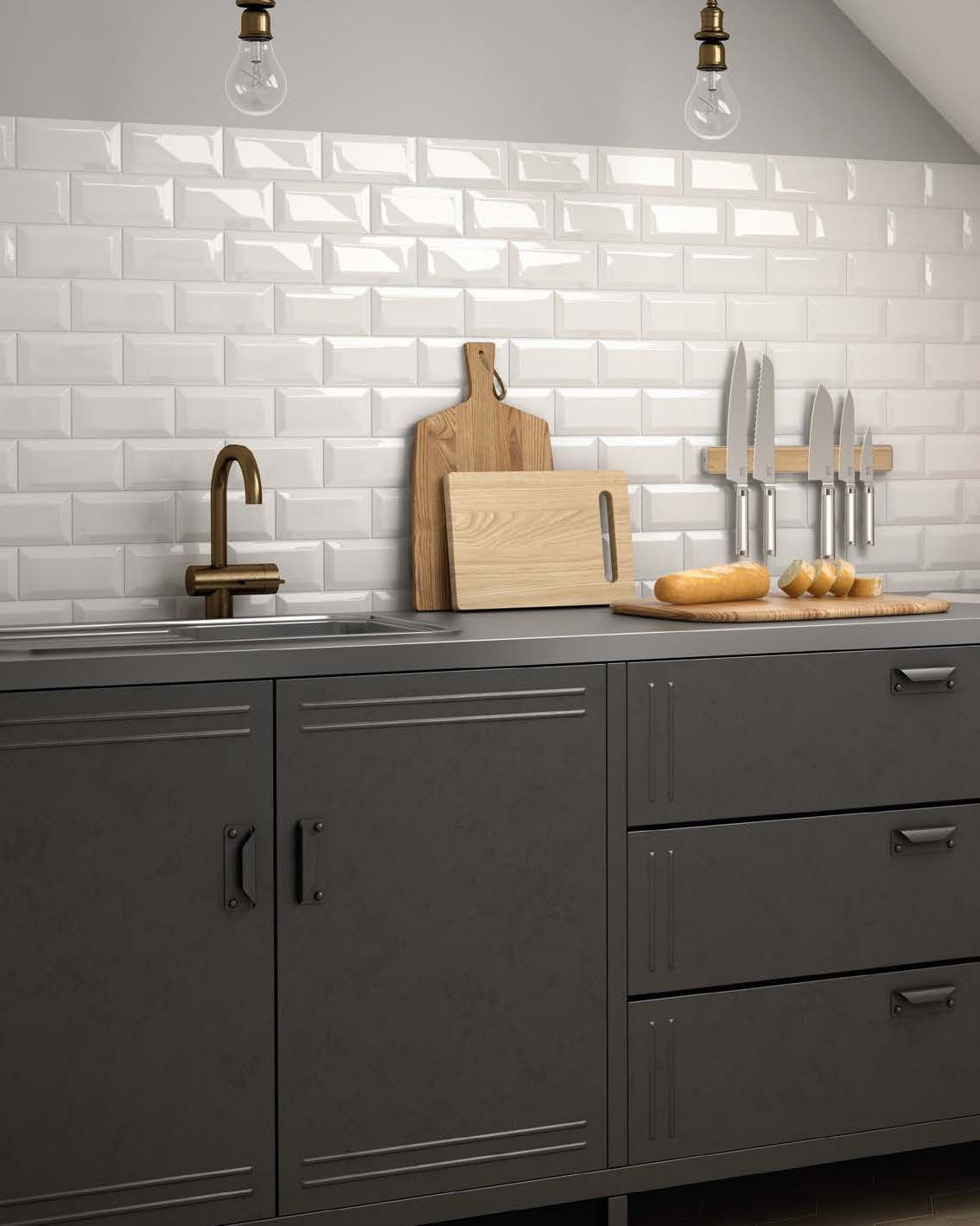 Equipe Metro White 7 5x15 Hexawood Natural 17 5x20 Country Kitchen Tiles