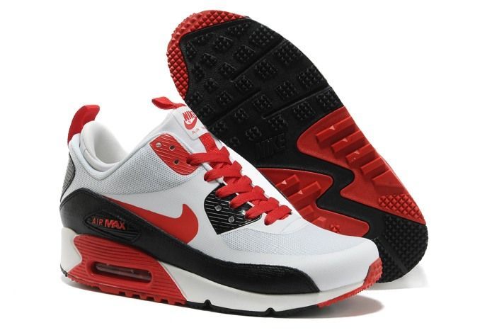 Nike Air Max 90 Black Red Mid No Sew Sneakerboots Ns Mens