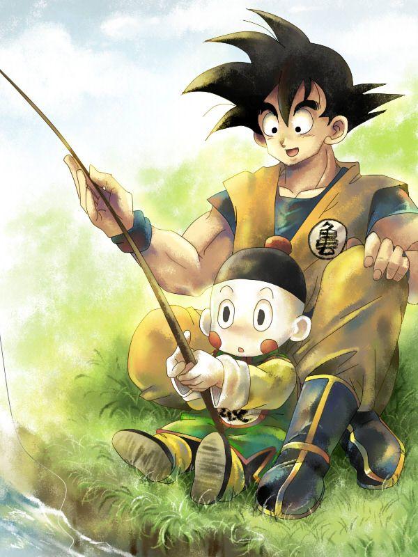Goku And Chiaotzu Ilustraciones Dragones Dibujos