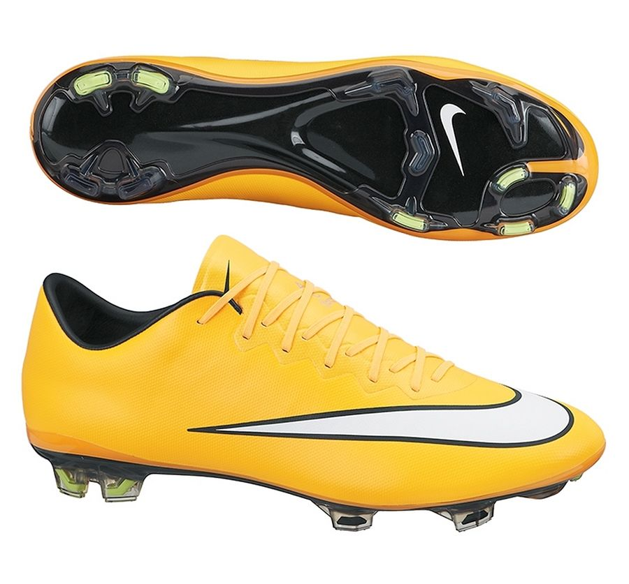 6d619ce83 Stay fast with the Nike Mercurial Vapor X Soccer Cleats (Laser  Orange/Black/Volt/White). Get your pair of soccer boots today at  SoccerCorner.com!