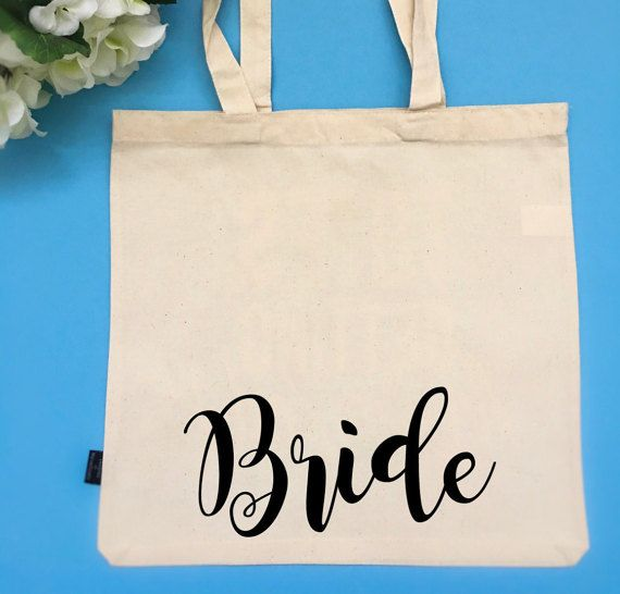 Bridal Party Tote Bag Customizable Tote Bag Bride by BeEverThine