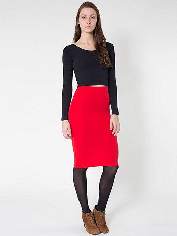 Ponte Mid-Length Pencil Skirt | Mid length and Pencil skirts
