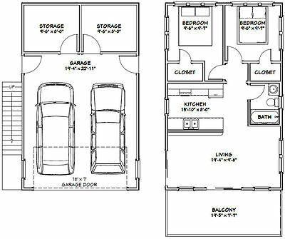 PDF Floor Plan Model 7G 1 Bedroom 1.5 Bath 20x40 House 965 sq ft