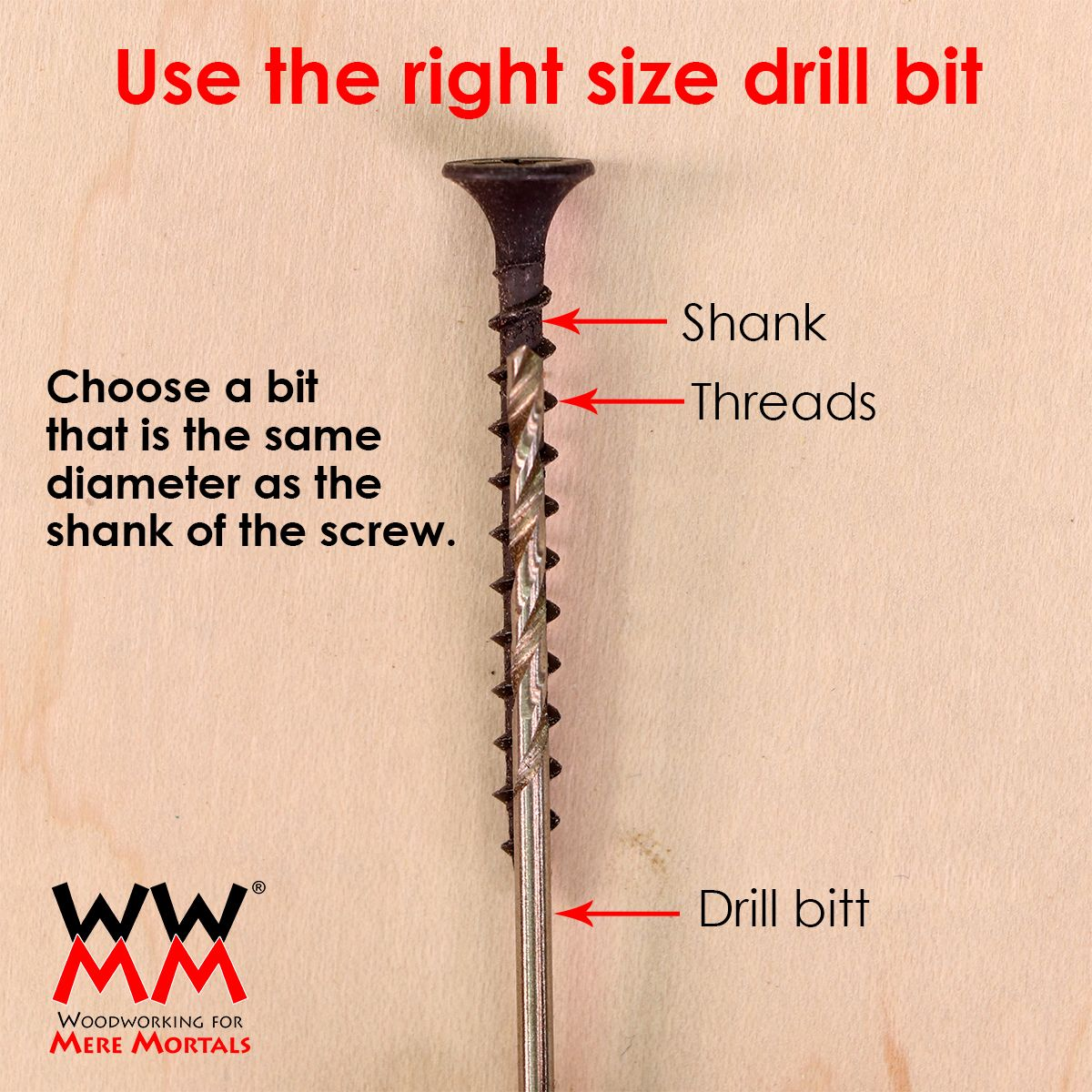 How to choose the right drill bit size. How to use a power drill and ...
