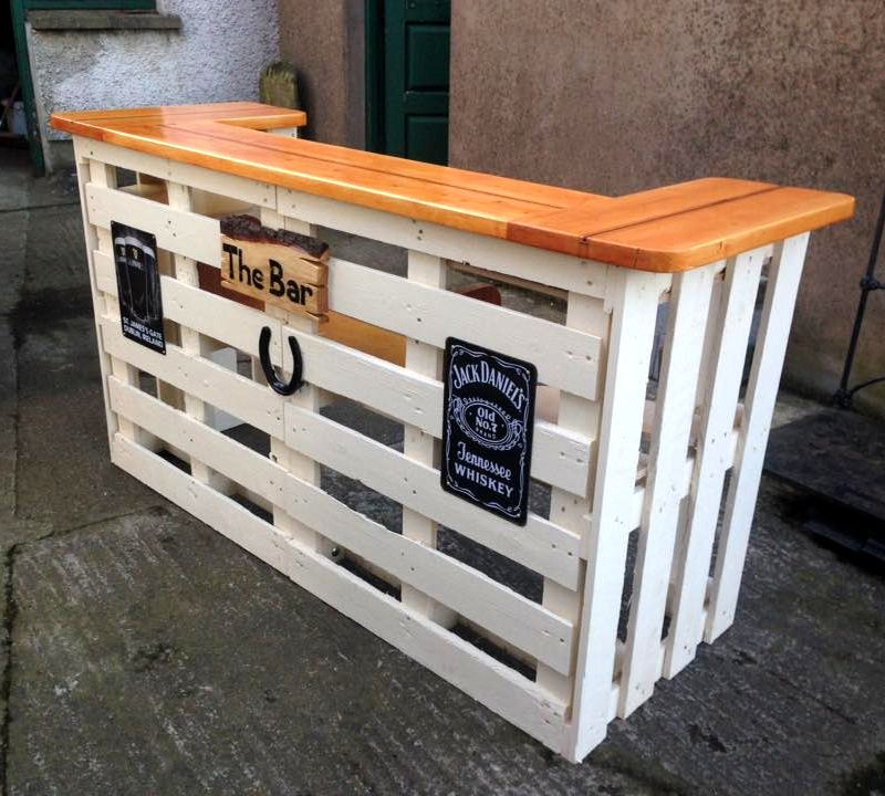 Lovely How to Build A Pallet Bar
