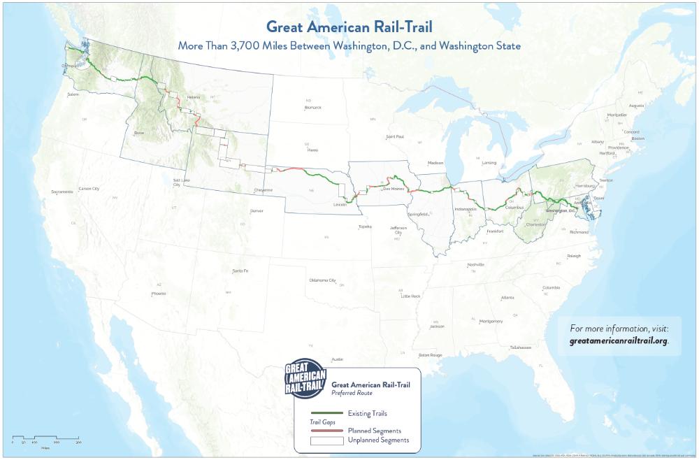 The Route RailstoTrails Conservancy Washington state