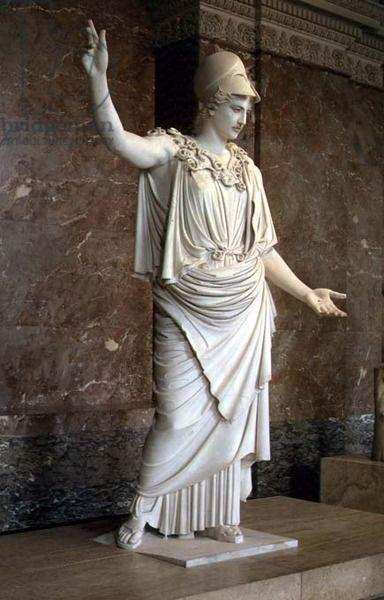 Athena Greek Probably 5th Century Bc Marble Location Louvre Paris France Greek Art Greek Statues Athena Greek Goddess