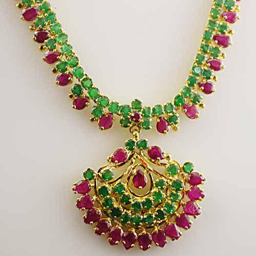 Multi stone studded necklace