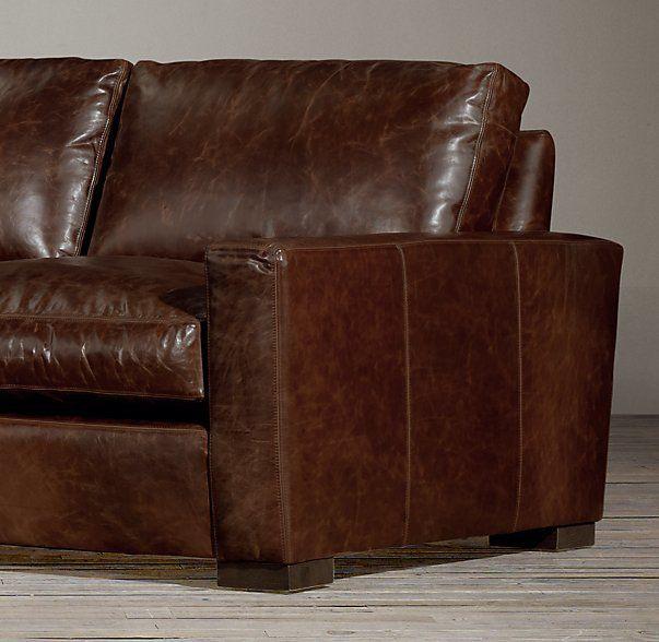 10' Maxwell Leather Sofa