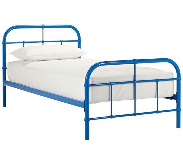 Image Result For Blue Metal Frame Bed Bed Single Bed Fantastic