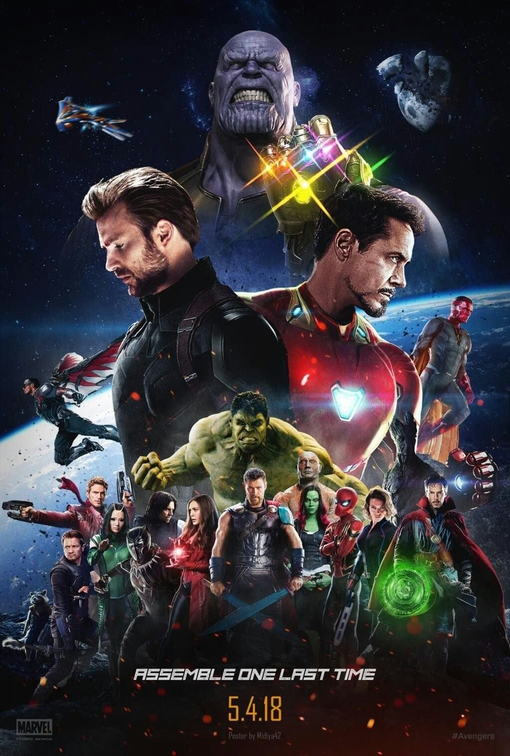 Avengers Infinity War Movie Poster Avengers Infinitywar Fantastic Movie Posters Scifimovies Posters Horrormovies Post Marvel Los Vengadores Universo Marvel