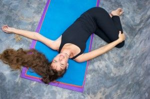 half revolved belly pose  free yoga videos yoga poses