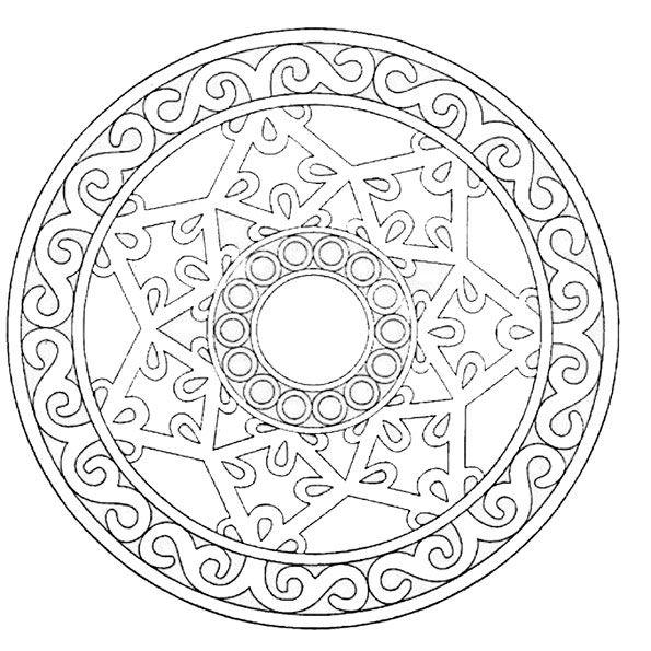 ausmalbilder mandala leicht  kinder ausmalbilder
