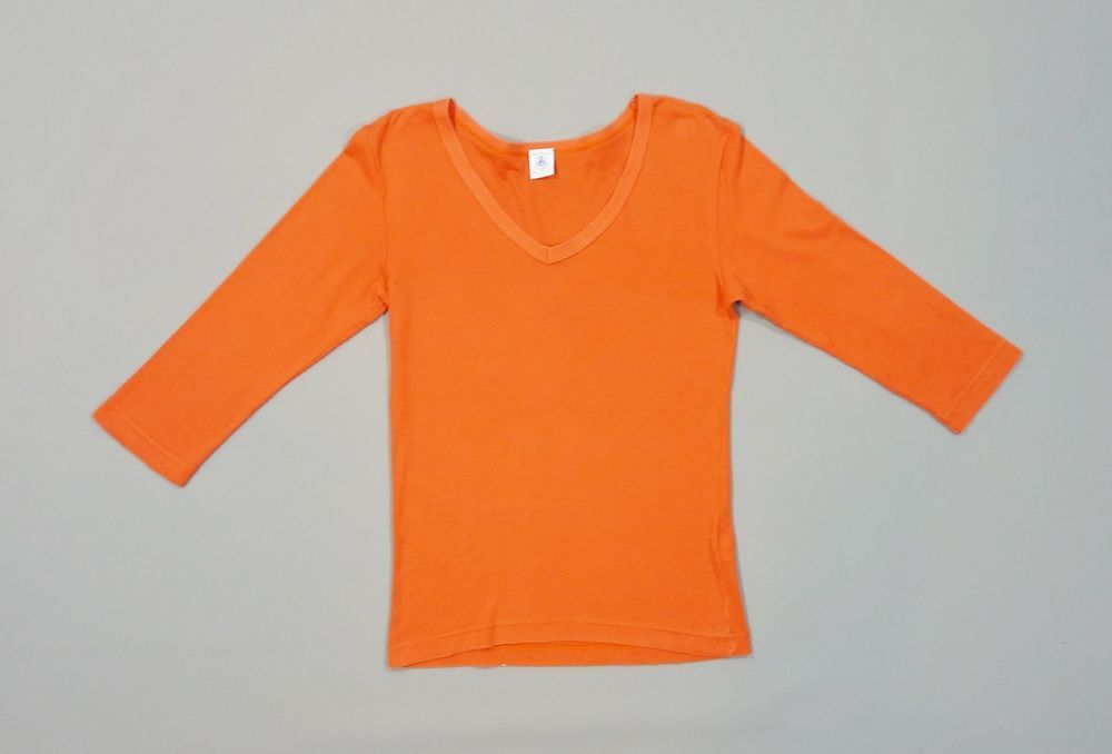 T-shirt manches 3/4 col V orange Petit Bateau 14 ans filles in Vêtements, accessoires, Enfants: vêtements, access., Vêtements filles (2-16ans)   eBay