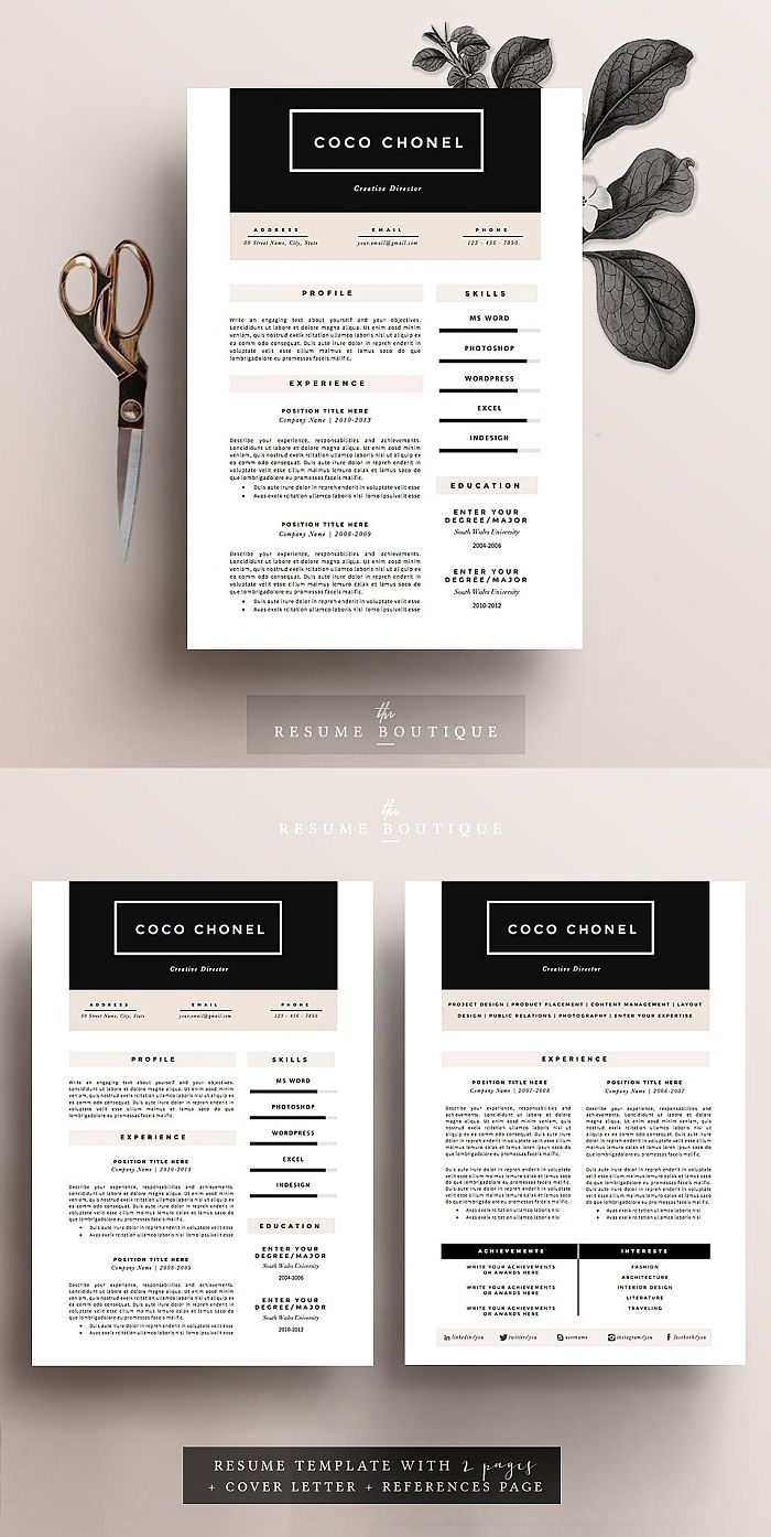 Resume Template 5 pages HighEnd (With images) Resume