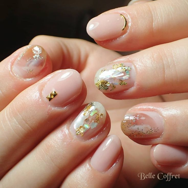 80 Glitter Tinsel Sparkle Nail Designs For Short Nails Ideas
