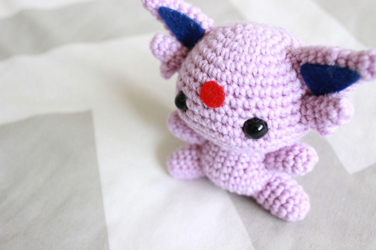 Amigurumi Patterns Tumblr : Espeon pokemon character free amigurumi pattern here