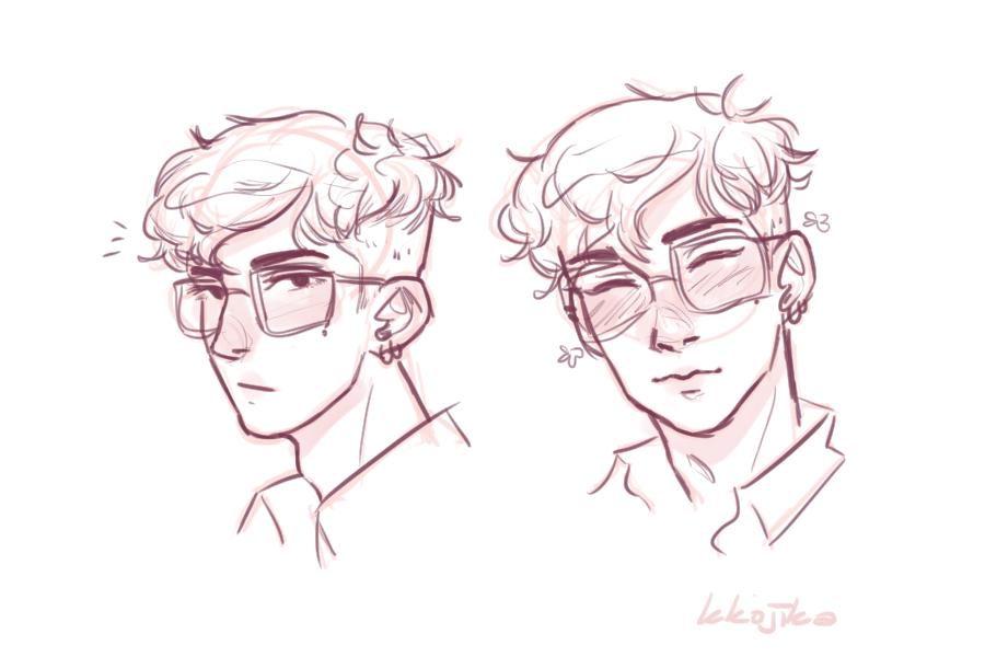 Ren Headshots By Timidoodle Boy Hair Drawing Anime Boy Hair Cartoon Hair