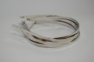 "Silver Colored Metal Headband - 1/6"" (4mm) - 12 pk . $4.00"