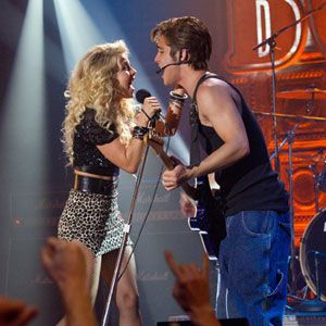 Diego Boneta and Julianne Hough as Drew & Sherrie from Rock of Ages (2012)