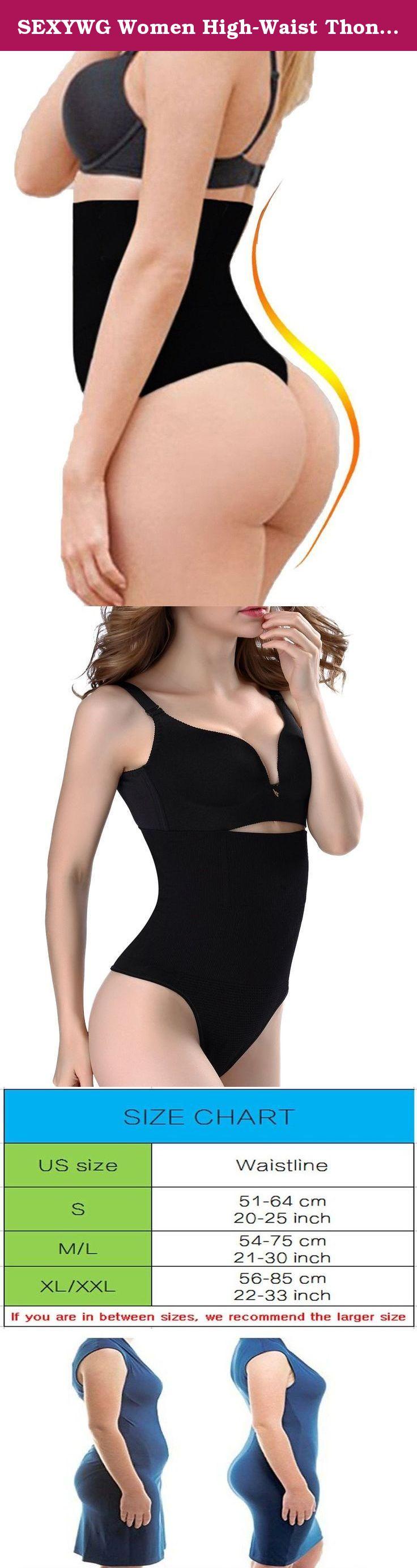 0355fc27eddf3 SEXYWG Women High-Waist Thong Shapewear Body Tummy Control Cincher  Boyshorts. Please don