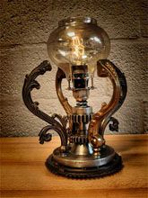classic style recycled metal nightlamp