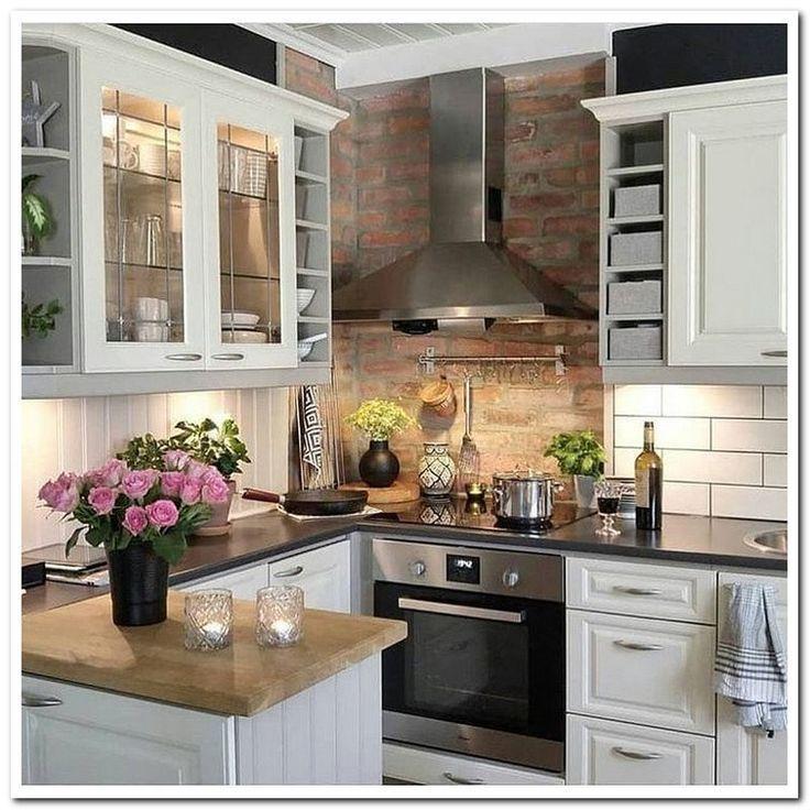Top 46 kleine Küchenideen Design mit kleinem Budget 45 - #Budget #design #Ideas #Kitch ...