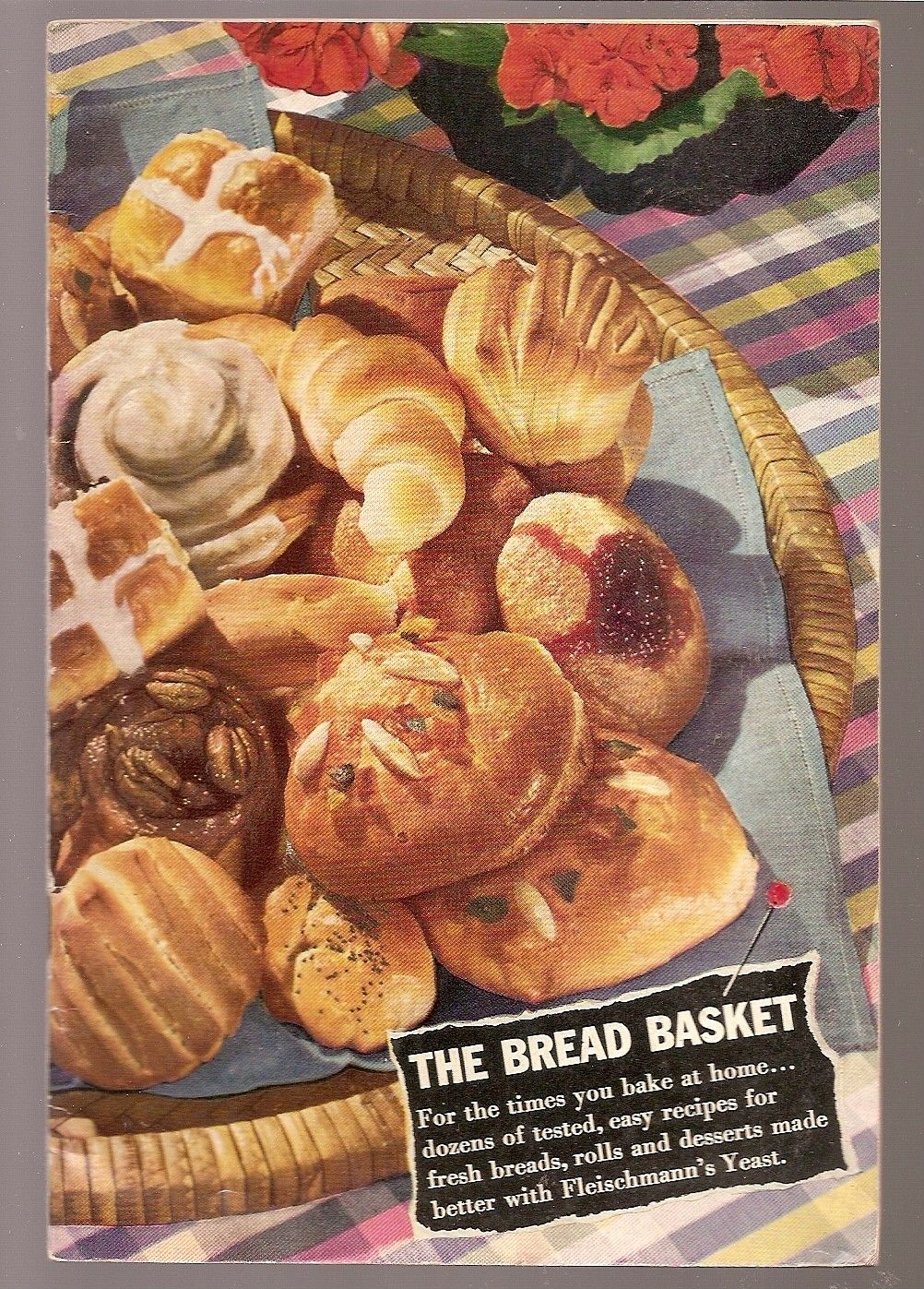 Bread baking recipes vintage cooking booklet bread