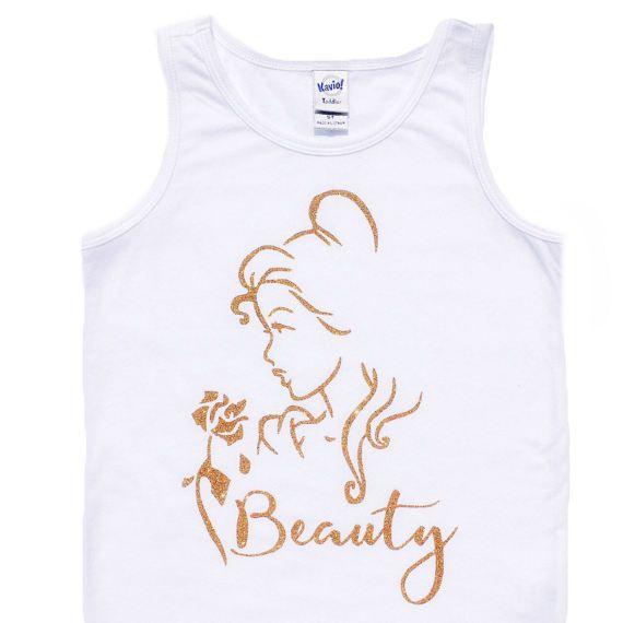 BEAUTY Princess Belle bodysuit Tee Shirt or Tank Top baby kids