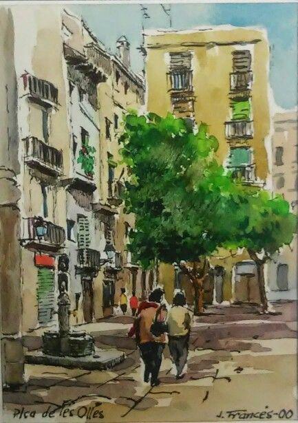 Barcelona, plaça de les Olles. Joaquim Francés