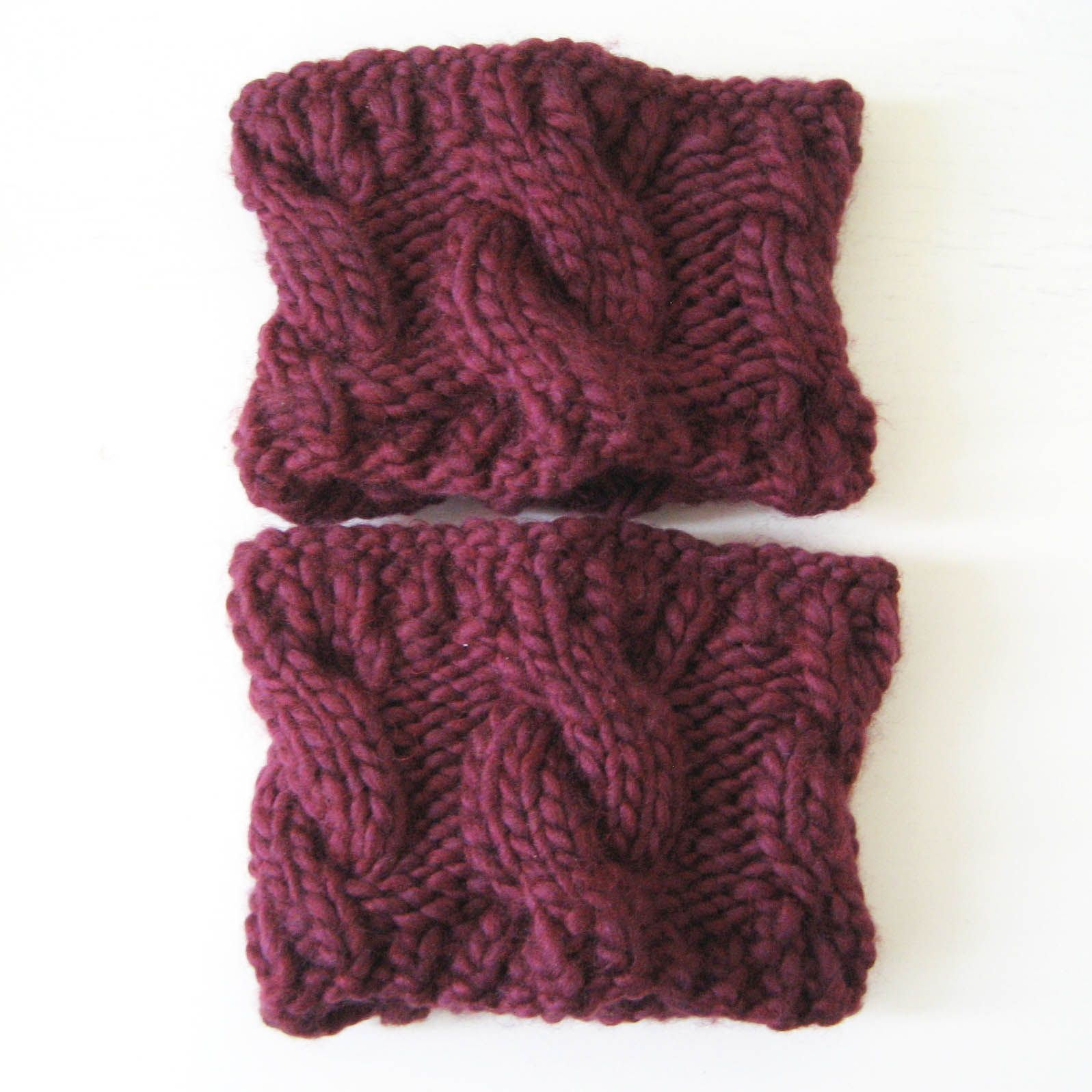 DIY Knitted Boot Cuffs | Bernat Roving (half a ball used for one ...