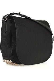 ALEXANDER WANG Lia Sling studded leather messenger bag $780