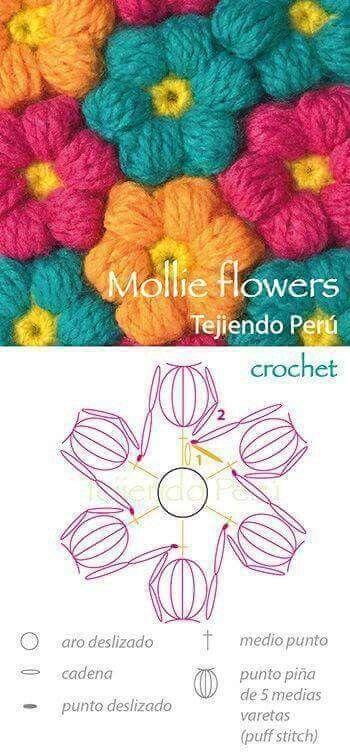 Flores Crochet Pinterest Crochet Crochet Flowers And Flower